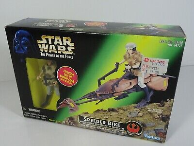 Kenner Star Wars The Power of the Force - Speeder Bike With Leia in Endor Gear