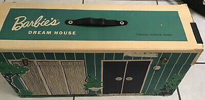 Vintage Barbie Cardboard Dream House 1962 With Accessories Furniture