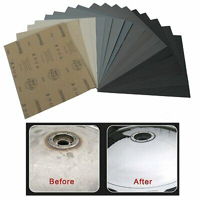 SANDING SHEETS Wet/Dry Silicon Carbide Waterproof Sandpaper 10 x 80 Grits  11x9
