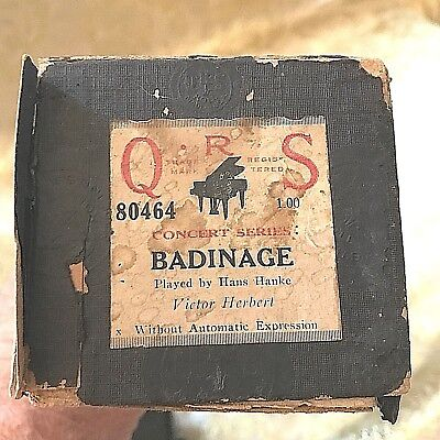 "QRS Player Piano Roll. Concert Series ""Badinage"" No. 0464  V. Good Condition!"