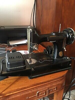 Vintage Singer Featherweight Works 3-110 Sewing Machine Foot Pedal portable 221