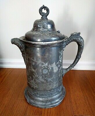 Well Lived + Loved: Antique Victorian Silver Plate Water Pitcher with Lid