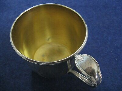 "CHILD'S CUP in ""REMEMBRANCE"" by 1847 ROGER BROS SILVERPLATE"