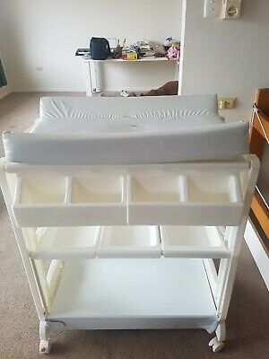 White Love N Care Baby Change Table and Portable Bath