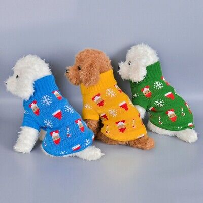 Cute Knitted Coat Dog Winter Pet Warm Clothes Sweater For Small To Medium Dogs.
