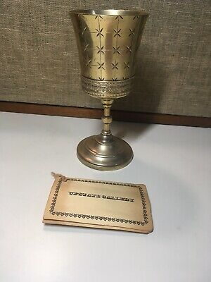 Mermod Jaccard Quad Plated Gold Wash Hard White Metal Victorian Goblet Chalice.