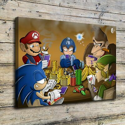 "12""x18""Super Mario HD Canvas Prints Painting Home Decor Picture Wall Art Poster"