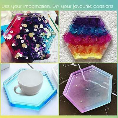Coaster Resin Casting Mold Silicone Jewelry Agate Making Epoxy Mould Tool Craft#