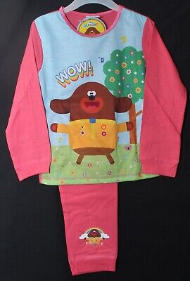 HEY DUGGEE Pink Pyjamas/ Girl's Official Long-Sleeve PJs Sizes 18 Months-5 Years