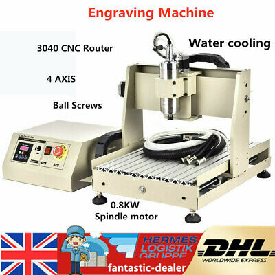 4 Axis CNC Router 3040 Engraver Milling Engraving Machine Wood PCB Carving 800W