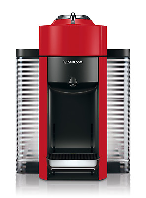 Nespresso ENV135R Coffee and Espresso Machine by De'Longhi, Red