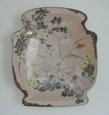 Antique Meiji Japanese Porcelain Kutani Yokohama Bowl Dish~Unusual Shape