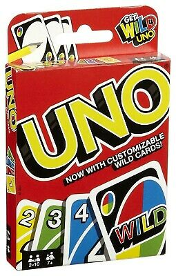 2019 NEW UNO card Game with WILD CARDS Latest version Great Family Fun UK SELLER