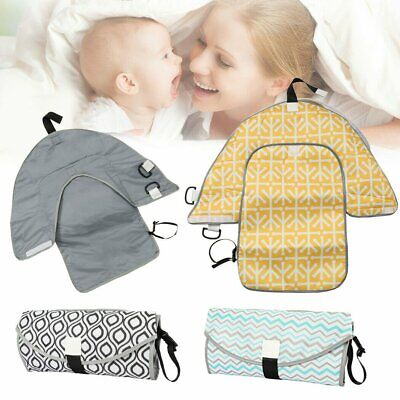 Clean Hands Changing Pad Portable Baby 3in1 Cover Mat Bags New Folding Diaper AU