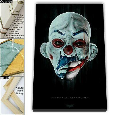 "16""x24"" Best The Joker Image HD Canvas prints Framed Home decor Wall art Picture"