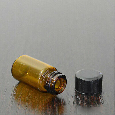 3/5ml Clear Amber Small Glass Vials Bottles Sample Containers with Screw Cap
