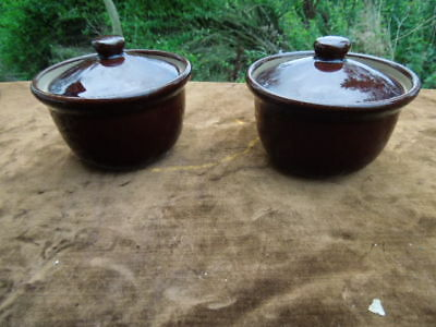 2 Denby - Small Size Lidded Oven Dishes - Bowls
