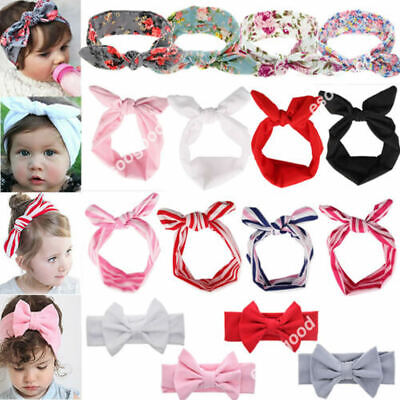 Baby Girls Bunny Bows Kids Turban Knot Rabbit Headband Bow Hair bands Head wrap