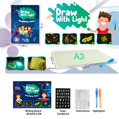 Draw With Light Fun And Developing Toy Drawing Board Magic Draw Educational o4