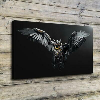 "12""x22""Machine Owl HD Canvas Prints Painting Home Decor Picture Wall Art Poster"