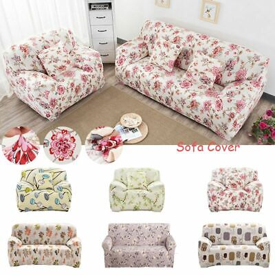 1-4 Sofa Covers Couch Slipcover Stretch Elastic Fabric Settee Protector Fit UK