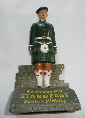 Vintage Grants Standfast Scotch Whisky Advertising Soldier Bar Figure