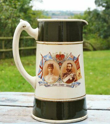 Large jug George V & Queen Mary long may they reign 1911