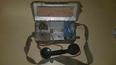 RARE MILITARY FIELD PHONE. Vintage Collectable EX ARMY MODEL L