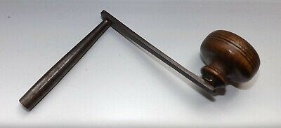 Size 10  Grandfather Clock Crank Winder Winding Key  Vintage Wooden Handle