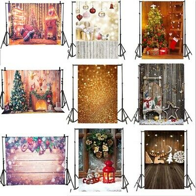 Vinyl Chrismas Vintage House Backdrop Xmas Snow Studio Photography Background