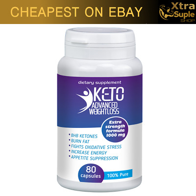 KETO Advanced Weight Loss Diet Pills 80 caps Ketosis Fat Burn & Carb Pure fit