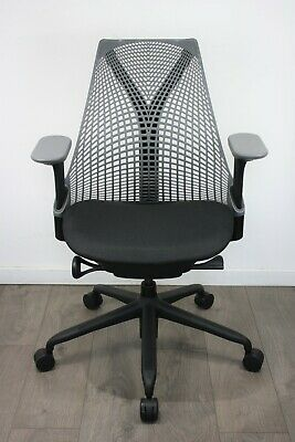 UK & EU DELIVERY | Herman Miller Sayl chair | Immaculate Black Seat | Slate Grey