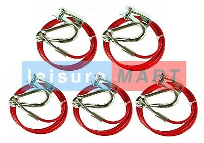 5 x Maypole Breakaway Cable with Clevis Pin, for Trailers, Caravans & Horseboxes