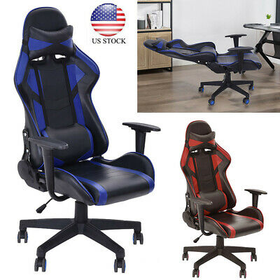 Racing Gaming Chair Ergonomic Leather Swivel Office Computer Desk Seat