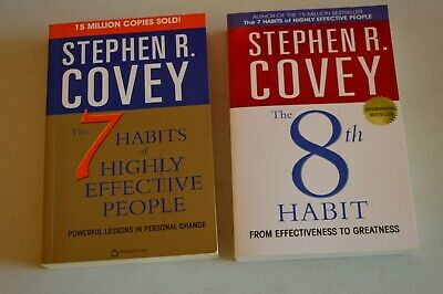 2 BOOKS THE 7 HABITS OF HIGHLY EFFECTIVE PEOPLE/THE 8th HABIT BY STEPHEN R COVEY
