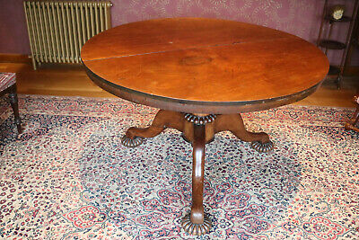 Victorian Welsh mahogany circular dining table & Williams & Cleal ext seats 6-8