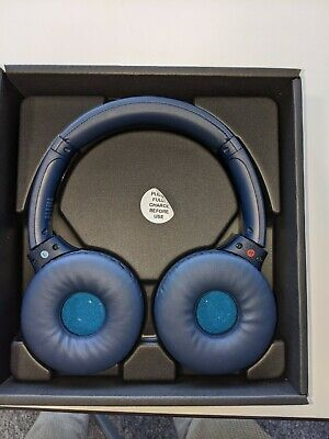 Sony WH-XB700 Extra Bass Over-the-Ear Bluetooth Headphones - Blue Color