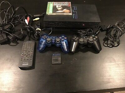 Sony PlayStation 2 PS2 Fat SCPH-39001 Console DualShock 2 + Cables + DVD + 8mb