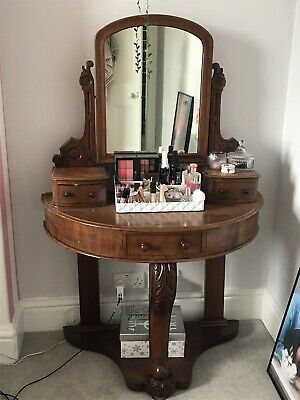 Antique Victorian mahogany DUCHESS DRESSING TABLE & mirror