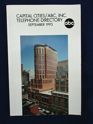 Capital Cities / ABC, Inc Telephone Directory, September 1993