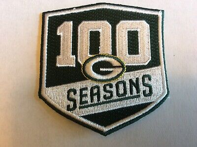 USA. Stunning New ,GREEN BAY PACKERS 100 Seasons PATCH, Rocket Shipping,iron On