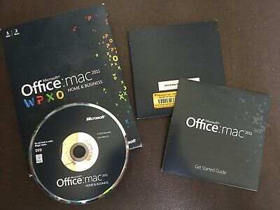 Genuine Boxed Microsoft Office Mac Home & Business 2011 FREEPOST