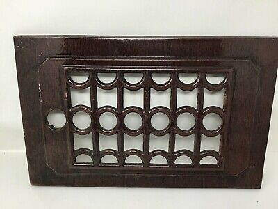 """Antique Cast Iron Grate Vent Furnace Cover Floor Wall 16.25"""" X 10-3/8""""  Hardware"""