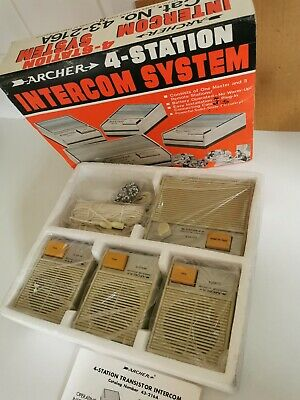 Vintage Archer 4 Station Intercom System Never Taken Out Of the Box