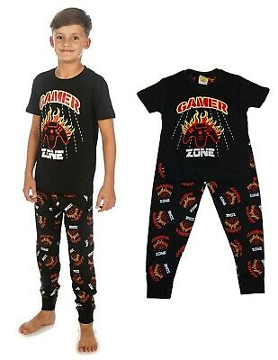 Boys Gamers Gaming Pyjamas Zone Younger to Teens 7-13 Years