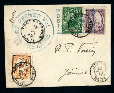 Haiti - 1927 First Flight Airmail Cover Port au Prince to Jeremie