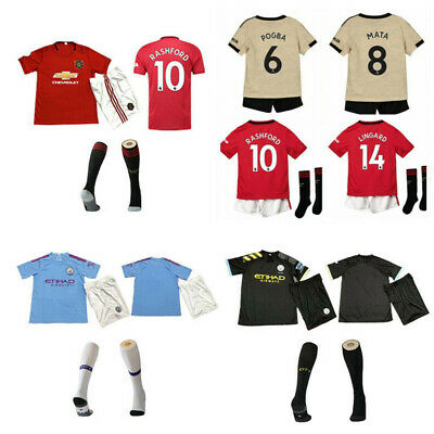 19/20 Football Jersey Club Kits Soccer Strips Sport Outfit +Sock Suit Kids Gifts
