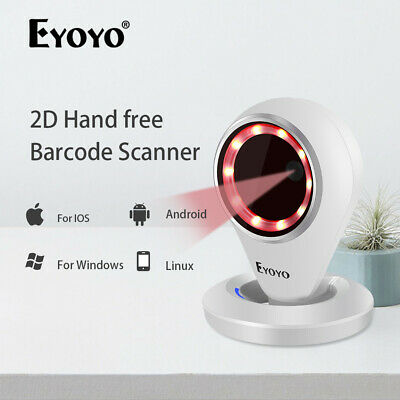 Eyoyo EY-6500 2D Auto-sensing Barcode Scanner USB Reader for Android Supermarket