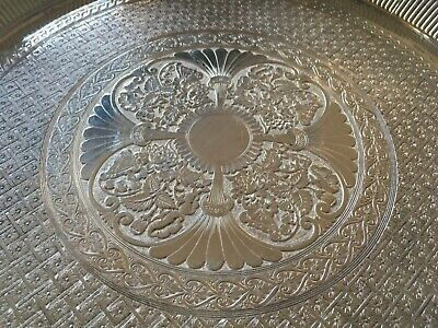 "ORNATE HEAVY QUADRUPLE SILVERPLATE 11 3/8"" TRAY by JAMES W TUFTS 1871-1903"