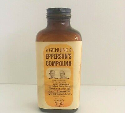 Vintage Apotheker Pharmacy Drugstore Epperson's Mischung Flasche Tennessee 1933